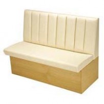 Fluted Low Back Bench Seating